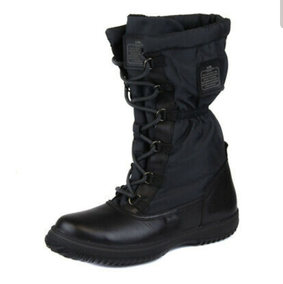 Coach Black Sage Cold Weather Boot 5B